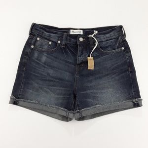 Madewell High Waisted Cuffed Jeans Short Size 28